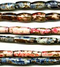 Exotic Bone Hairpipe - Speckled - Assorted Colors