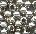 Silver Plated Solid Brass Beads