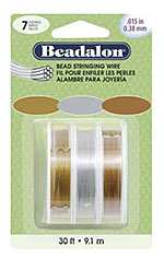Beadalon Bead Wire - 7 Strand - 0.015 - Metallic Assorted