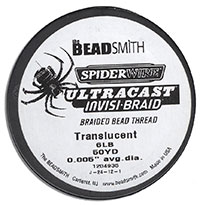 SpiderWire Braided Bead Thread - 6 LB Test
