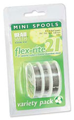 Flex-Rite Stainless Steel Bead Wire - 21 Strand - Clear Assorted