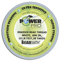 Power Pro Braided Bead Thread - 10 LB Test