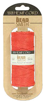 Hemp Cord - 50 Gram Spool - Scarlet Red