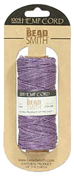 Hemp Cord - 50 Gram Spool - Purple