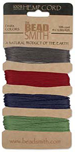 Hemp Cord Assortment - Dark Colors