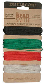 Hemp Cord Assortment - Primary Colors