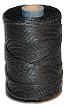 Waxed Irish Linen Thread - Black - 4 Cord - 50 Gram Spool