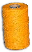 Waxed Irish Linen Thread - Yellow - 4 Cord - 50 Gram Spool