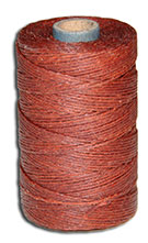 Waxed Irish Linen Thread - Dark Rust - 4 Cord - 50 Gram Spool