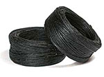 Waxed Linen Thread - 10 YD Bobbin - Black