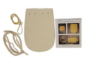 Medicine Bag Kit - Deer Leather - White