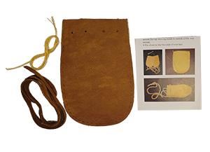 Medicine Bag Kit - Deer Leather - Earth Colors