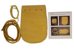 Medicine Bag Kit - Buffalo Leather - Earth Colors