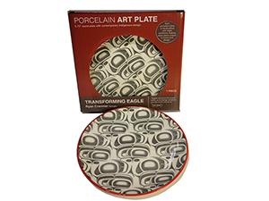 Northwest Art Plate - Transforming Eagle