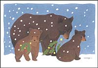 Crane Creek Christmas Cards - Holly Bears