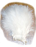 Turkey Feathers - Strung Fluffs - White