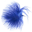 Turkey Feathers - Strung Fluffs - Royal Blue