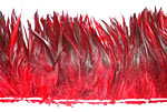 Dyed Strung Rooster Saddle Hackles - Dark Red