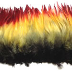 Dyed Strung Rooster Saddle Hackles - Flame