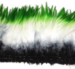 Dyed Strung Rooster Saddle Hackles - Sour Apple