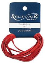 Deerskin Lace - Red - 2 YD