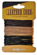 India Leather Cord - Natural Mix