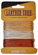 India Leather Cord - Metallic Mix