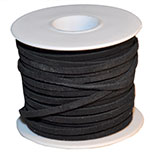 Cow Suede Lace Spool - Black - 25 YD