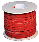 Cow Suede Lace Spool - Red - 25 YD