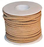 Cow Suede Lace Spool - Beige - 25 YD