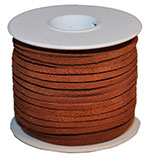 Cow Suede Lace Spool - Med Brown - 25 YD