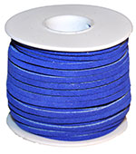 Cow Suede Lace Spool - Blue - 25 YD
