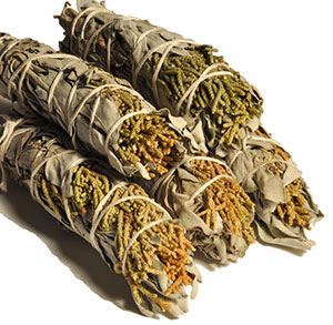 California White Sage / Juniper Smudge Bundles - Minis