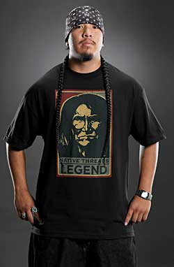 Native Threads T-Shirt - Geronimo - Black