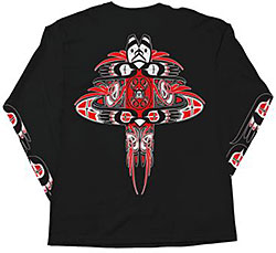 Native Threads T-Shirt -Totem Tee - Long Sleeve - Black
