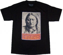 Native Threads T-Shirt - Sitting Bull - Black