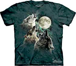 Mountain T-Shirt - Three Wolf Moon