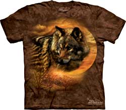 Mountain T-Shirt - Shy Wolf