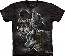 Mountain T-Shirt - Eclipse Wolves