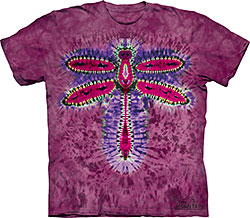 Mountain T-Shirt - Tie Dye Dragonfly