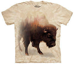 Mountain T-Shirt - Bison Forest