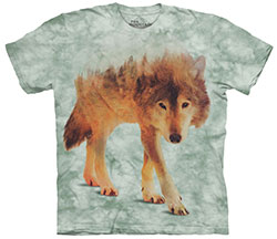 Mountain T-Shirt - Forest Wolf
