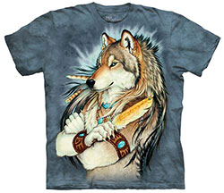 Mountain T-Shirt - Golden Feather
