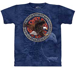 Mountain T-Shirt - Tribal Eagle