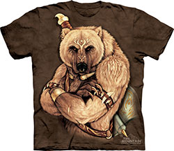 Mountain T-Shirt - Tribal Bear