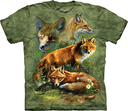 Mountain T-Shirt - Red Fox Collage