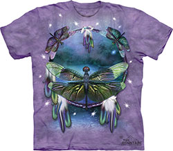 Mountain T-Shirt - Dragonfly Dreamcatcher