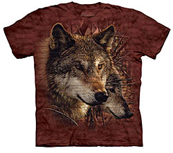 Mountain T-Shirt - Forest Wolves