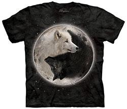 Mountain T-Shirt - Yin Yang Wolves