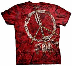 Mountain T-Shirt - Red Pipes